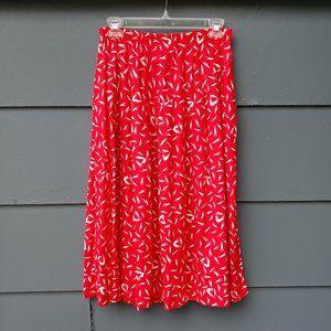 Vintage Midi Length By Krush Red / White Skirt